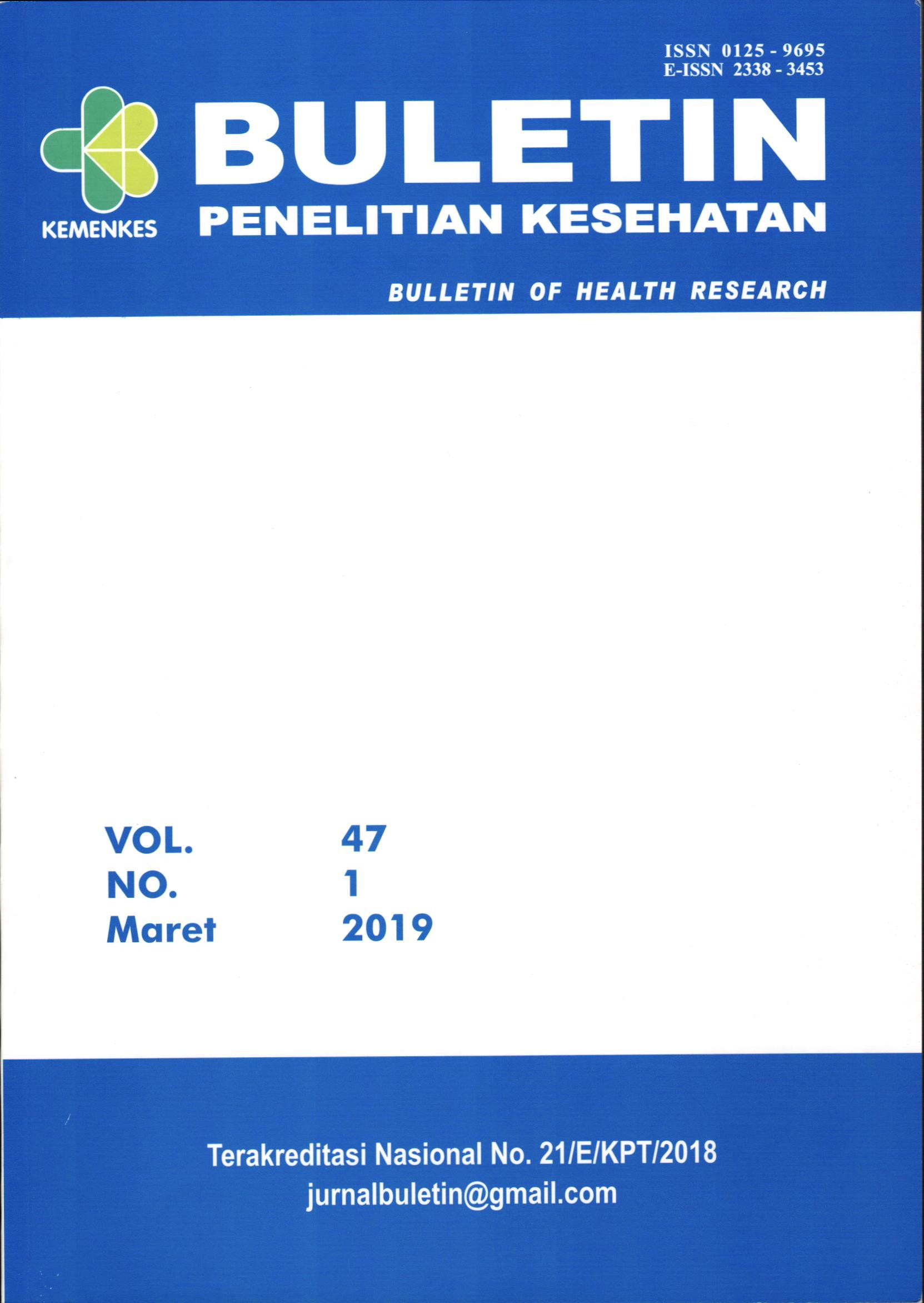 Buletin Penelitian Kesehatan : Bulletin of health research